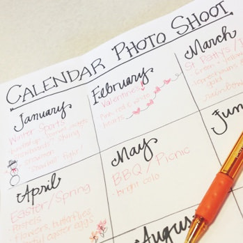 5 tips for planning a great calendar shoot.